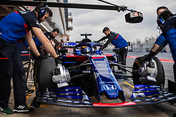 February 19, 2019 - Montmelo, BARCELONA, Spain - SPAIN, BARCELONA, 19 February 2019. Albon driver of Toro Roso  team during the second day of winter test at Circuit de Barcelona Catalunya. (Credit Image: © AFP7 via ZUMA Wire)