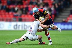 Jordan Crane (c) of Bristol Rugby is tackled by Chris Cook of Bath Rugby - Mandatory by-line: Dougie Allward/JMP - 26/02/2017 - RUGBY - Ashton Gate - Bristol, England - Bristol Rugby v Bath Rugby - Aviva Premiership