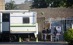 SSouth Africa - Durban - 26 July 2020 - Staff at Hillcrest SAPS, Durban are working outside the gate after some of their members have tested for Covid-19.<br /> Picture: Bongani Mbatha/African News Agency(ANA)