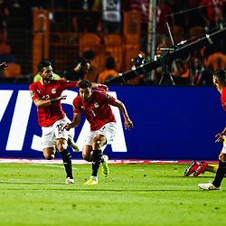 Mahmoud Ahmed Ibrahim Hassan of Egypt  celebrating goal during the African Cup of Nations match between Egypt and Zimbabwe at the Cairo International Stadium in Cairo, Egypt on June 21,2019. Photo : Ulrik Pedersen / Icon Sport