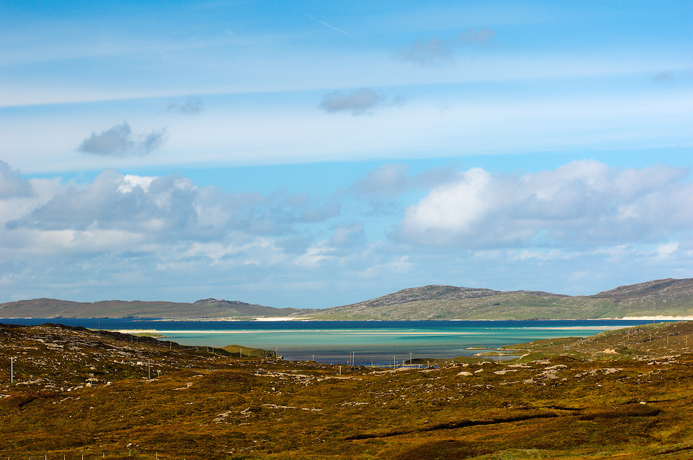 View just off A589 toward Luskentyre and Sound of Taransay