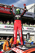 James Courtney (Holden Racing Team) winner of Race 2. 2016 Clipsal 500 Adelaide. V8 Supercars Championship Round 1. Adelaide Street Circuit, South Australia. Saturday 5 March 2016. Photo: Clay Cross / photosport.nz