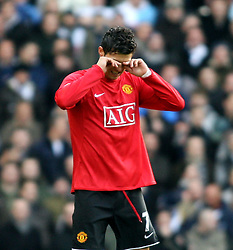 LONDON, ENGLAND - Saturday, February 2, 2008: Manchester United's Cristiano Ronaldo in action against Tottenham Hotspur  during the Premiership match at White Hart Lane. (Photo by Chris Ratcliffe/Propaganda)