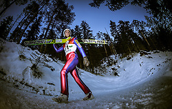 13.12.2013, Nordische Arena, Ramsau, AUT, FIS Nordische Kombination Weltcup, Skisprung Training, im Bild Joergen Graabak (NOR) // Joergen Graabak (NOR) during Ski Jumping Training of FIS Nordic Combined World Cup at the Nordic Arena in Ramsau, Austria on 2013/12/13. EXPA Pictures © 2013, EXPA/ JFK