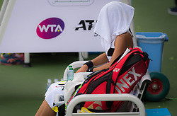 February 19, 2019 - Dubai, ARAB EMIRATES - Caroline Garcia of France in action during her second-round match at the 2019 Dubai Duty Free Tennis Championships WTA Premier 5 tennis tournament (Credit Image: © AFP7 via ZUMA Wire)