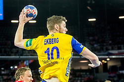 Niclas Ekberg (SWE) during handball match between National teams of Denmark and Sweden in Half Final match of Men's EHF EURO 2018, on January 26, 2018 in Arena Zagreb, Zagreb, Croatia. Photo by Ziga Zupan / Sportida