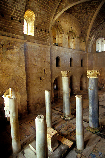 Interior of Church of Saint Nicholas, Santa Claus, in Demre in Southern Turkey