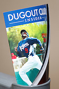 LOS ANGELES, CA - APRIL 10:  Dee Gordon #9 of the Los Angeles Dodgers is featured on the cover of Dugout Club Insider Magazine during the game against the Pittsburgh Pirates on Tuesday, April 10, 2012 at Dodger Stadium in Los Angeles, California. The Dodgers won the game 2-1. (Photo by Paul Spinelli/MLB Photos via Getty Images)