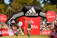 Oak Valley ( Elgin / Grabouw ), SOUTH AFRICA - Hannes Genze amd Jochen Kaess  celebrate third place during the final stage stage seven , 7 , of the Absa Cape Epic Mountain Bike Stage Race between Oak Valley ( Elgin / Grabouw ) and Lourensford on the 28 March 2009 in the Western Cape, South Africa..Photo by Karin Schermbrucker  /SPORTZPICS