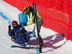 13.01.2012, Pista Olympia delle Tofane, Cortina, ITA, FIS Weltcup Ski Alpin, Damen, Abfahrt, 2. Training, im Bild markierungsarbeiten an der Strecke // marking work on course before ladies downhill 2nd training of FIS Ski Alpine World Cup at 'Pista Olympia delle Tofane' course in Cortina, Italy on 2012/01/13. EXPA Pictures © 2012, PhotoCredit: EXPA/ Johann Groder