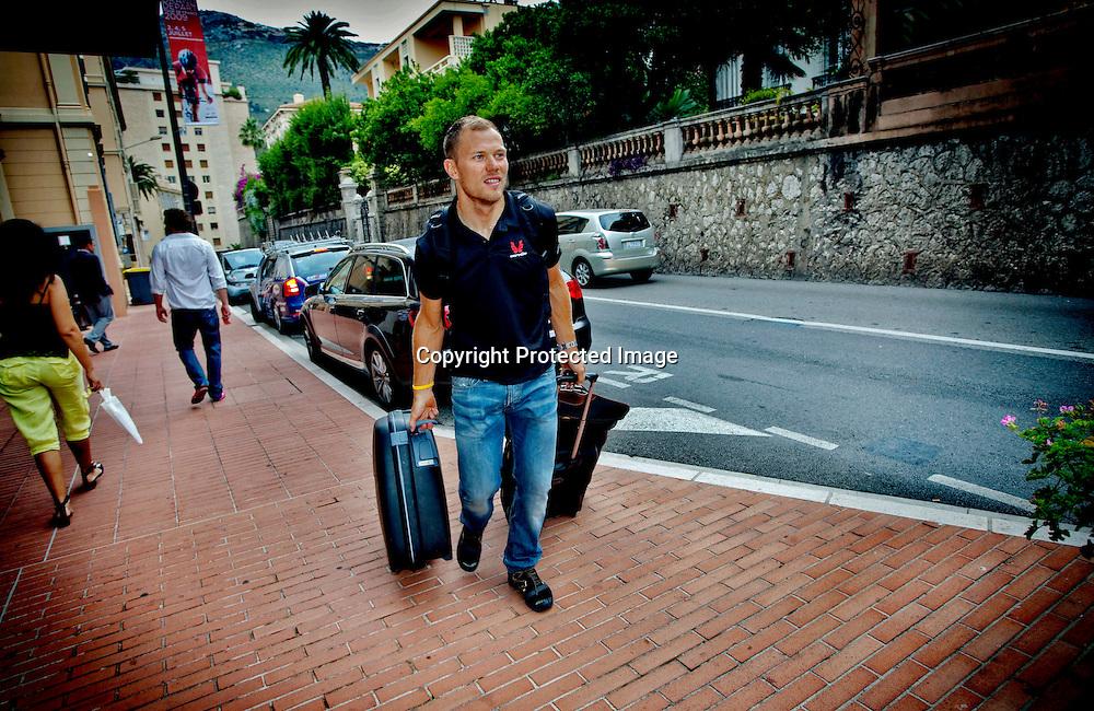Monaco 01072009: Thor Hushovd flyttet hjemmefra og inn på hotell sammen med resten av lagkameratene på Cervelo tre dager, før Tour de France starter i Hushovds hjemby Monaco.  ..Foto: Daniel Sannum Lauten/VG