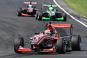 Marcus Armstrong leads James Pull and Richard Verschoor in Race 2, Round 3 of the 2018 Castrol Toyota Racing Series at Hampton Downs, Sunday January 28, 2018.<br /> Copyright photo: Bruce Jenkins / www.photosport.nz