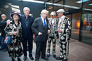 MAYOR BORIS JOHNSON;SIR  MICHAEL CAINE  attend The Galleries of Modern London launch party at the Museum of London on May 27, 2010 in London. <br /> -DO NOT ARCHIVE-© Copyright Photograph by Dafydd Jones. 248 Clapham Rd. London SW9 0PZ. Tel 0207 820 0771. www.dafjones.com.
