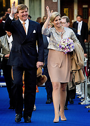 59604334  .Dutch King Willem-Alexander and Queen Maxima arrive to attend the annual concert marking the Liberation Day, Amsterdam, Netherlands, May 05, 2013. Photo by: i-Images.UK ONLY