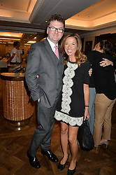 EWAN VENTERS and HEATHER KERZNER at the 3rd annual Gynaecological Cancer Fund Ladies Lunch at Fortnum & Mason, 181 Piccadilly, London on 29th September 2016.
