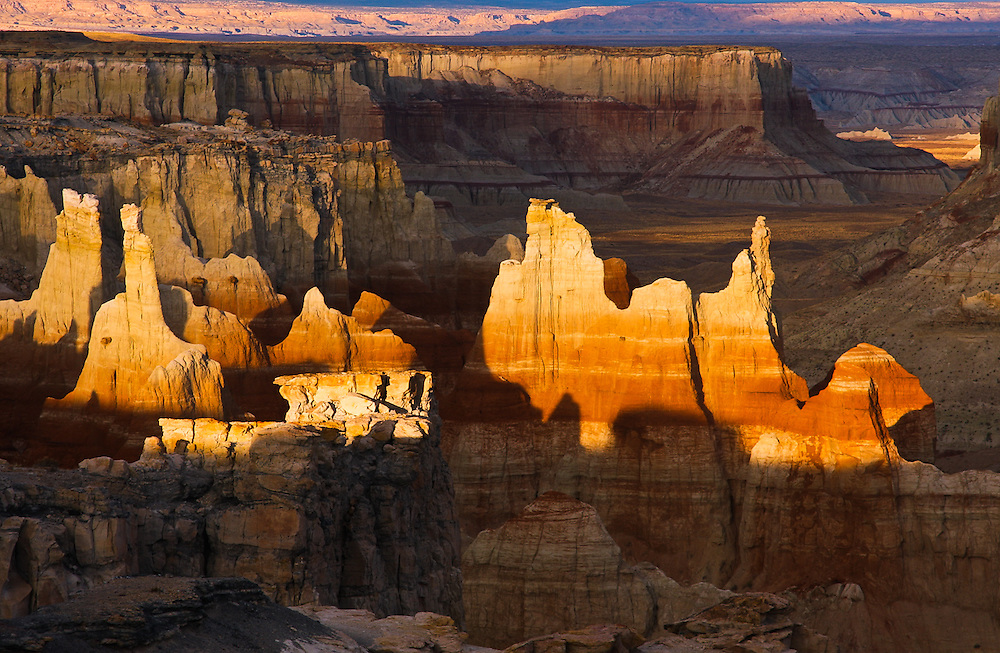 Sunset over Coal Mine Canyon in northern Arizona