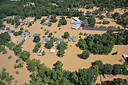 Flooding in Denham Springs in Livingston Parrish Louisiana, following a record breaking rainfall leading to a 1000-year flood.