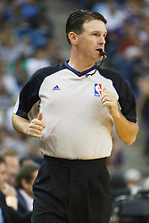 November 1, 2010; Sacramento, CA, USA;  NBA referee Pat Fraher (52) during the second quarter of the game between the Sacramento Kings and the Toronto Raptors at ARCO Arena. The Kings defeated the Raptors 111-108.
