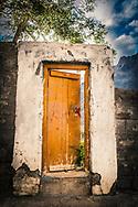 Village door leading into field, Spiti Valley, India
