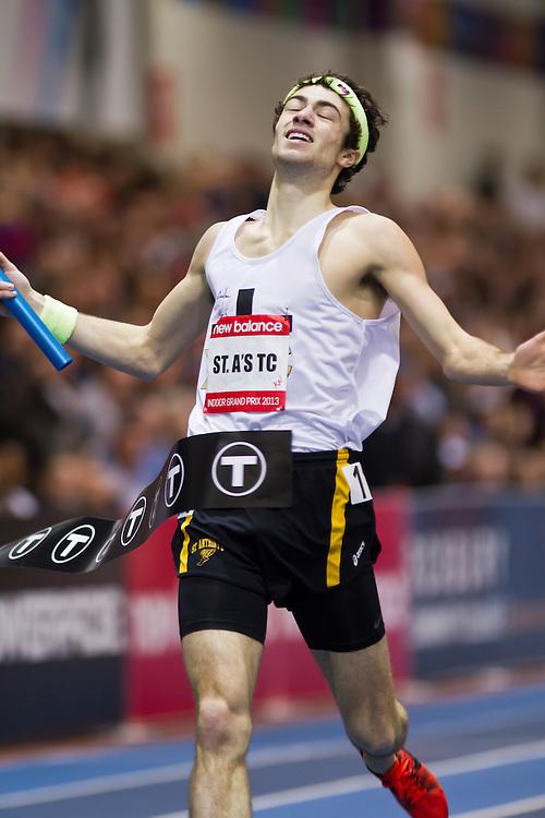 New Balance Indoor Grand Prix track meet: Boys 4x800 meter relay, St A's TC wins