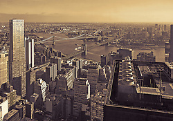 View of Brooklyn and Lower Manhattan from the 68th floor of 4 World Trade Center.