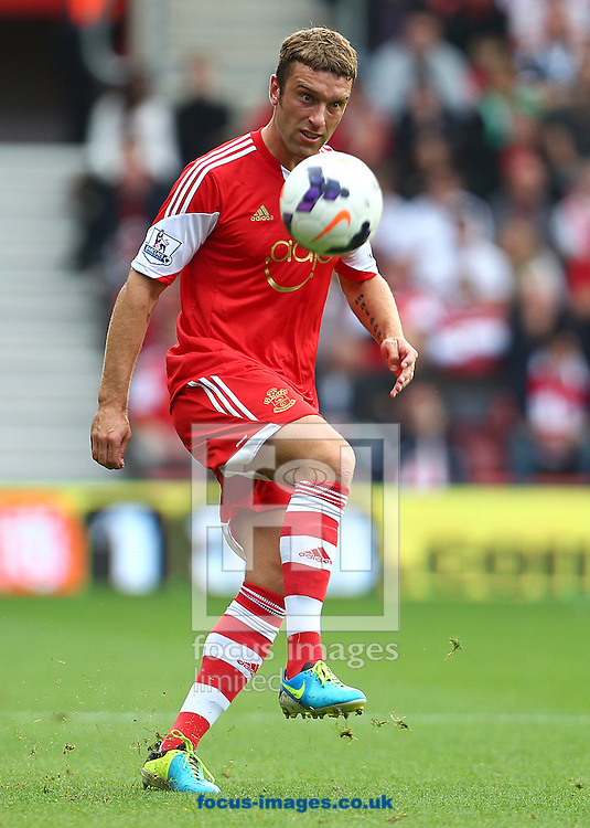 Picture by Paul Terry/Focus Images Ltd +44 7545 642257<br /> 28/09/2013<br /> Rickie Lambert of Southampton during the Barclays Premier League match at the St Mary's Stadium, Southampton.