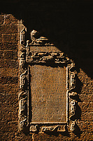 A latin engraving in Old Goa, India.