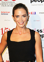 Emily Blunt, The London Critics Circle Film Awards, May Fair Hotel, London UK, 20 January 2013, (Photo by Richard Goldschmidt)