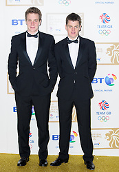 Triathlon brothers Alistair and Jonathan Brownlee during the BT Olympic Ball, held at the Grosvenor Hotel, London, UK, November 30, 2012. Photo By Anthony Upton / i-Images.