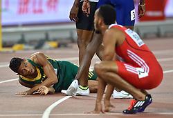 26-08-2015 CHN: IAAF World Championships Athletics day 5, Beijing<br /> Winner Wayde van Niekerk (South Africa Republic) at 400m Men<br /> Photo by Ronald Hoogendoorn / Sportida
