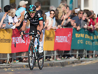 LONDON UK 31ST JULY 2016:  Ian Stannard of Team Sky (GBr) takes part in the Prudential RideLondon Surrey Classic as it goes through Wimbledon Village. The Prudential RideLondon-Surrey Classic  in London 31st July 2016<br /> <br /> Photo: Joe Toth/Silverhub for Prudential RideLondon<br /> <br /> Prudential RideLondon is the world's greatest festival of cycling, involving 95,000+ cyclists – from Olympic champions to a free family fun ride - riding in events over closed roads in London and Surrey over the weekend of 29th to 31st July 2016. <br /> <br /> See www.PrudentialRideLondon.co.uk for more.<br /> <br /> For further information: media@londonmarathonevents.co.uk