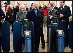 Prince Charles and The Duchess of Cornwall look around Farringdon Tube Station, Wednesday January 30, 2013, to celebrate 150 years of the London Underground. Photo By Andrew Parsons / i-Images