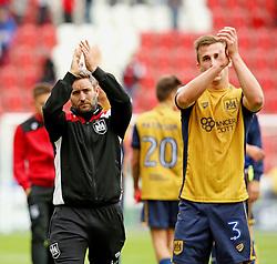 Bristol City head coach Lee Johnson and Joe Bryan applaud the fans at full time - Mandatory by-line: Matt McNulty/JMP - 10/09/2016 - FOOTBALL - Aesseal New York Stadium - Rotherham, England - Rotherham United v Bristol City - Sky Bet Championship