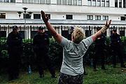 Warszawa. 21.07.2017 Protest pod Senatem podczas obrad nad ustawa o Sadzie Najwyzszym.   Fot: Krystian Maj/FORUM