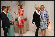 LADY ROTHERWICK; AMANDA ELIASCH; CARLA BAMBERGER, Cartier dinner in celebration of the Chelsea Flower Show. The Palm Court at the Hurlingham Club, London. 19 May 2014.
