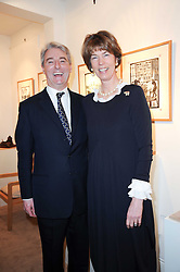 The EARL & COUNTESS OF VERULAM at a private view of recent paintings, drawings and prints by Dione Verulam (Countess of Verulam) held at Sladmore Contemporary art gallery, 32 Bruton Place, London on 10th February 2010.