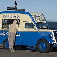 Doriano Ice Cream Van on the sea promenade in Leven, Fife, Scotland<br />