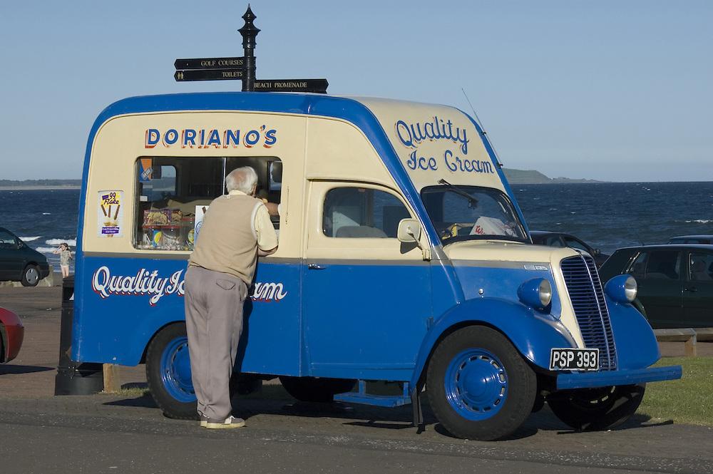 Doriano Ice Cream Van on the sea promenade in Leven, Fife, Scotland<br />