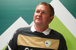 Head coach Matjaz Kek  during press conference of Slovenia National football team at  Hyde Park High School Stadium on June 21, 2010 in Johannesburg, South Africa.  (Photo by Vid Ponikvar / Sportida)