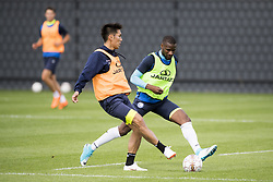 June 21, 2018 - Gent, BELGIUM - Gent's Yuya Kubo and Gent's Mamadou Sylla fight for the ball during a training session of Belgian soccer team KAA Gent, ahead of the 2018-2019 Jupiler Pro League season, Thursday 21 June 2018, in Gent. BELGA PHOTO JASPER JACOBS (Credit Image: © Jasper Jacobs/Belga via ZUMA Press)