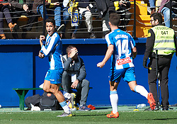February 3, 2019 - Villarreal, Castellon, Spain - Rosales of RCD Espanyol celebrates a goal during the La Liga match between Villarreal and Espanyol at Estadio de la Ceramica on February 3, 2019 in Vila-real, Spain. (Credit Image: © Maria Jose Segovia/NurPhoto via ZUMA Press)
