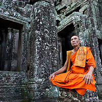 Bayon, Angkor archeological complex, UNESCO Heritage Site, Siem Reap, Cambodia