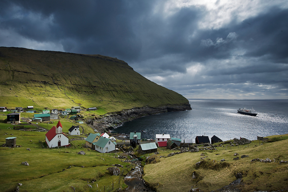 Hattervik, a small village in the Faroe Islands halfway between Orkney and Iceland