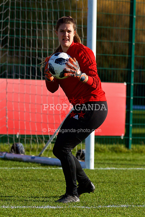 NEWPORT, WALES - Tuesday, November 6, 2018: Wales' goalkeeper Claire Skinner during a training session at Dragon Park ahead of two games against Portugal. (Pic by Paul Greenwood/Propaganda)