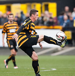 Alloa Athletic's Jason Marr.<br /> Alloa Athletic 0 v 0 Falkirk, Scottish Championship 12/10/2013. played at Recreation Park, Alloa.<br /> &copy;Michael Schofield.