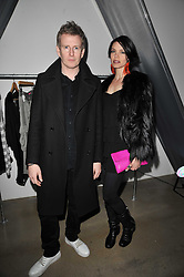 PATRICK KIELTY and ALIZEE GAILLARD at a party to launch pop-up store Oxygen Boutique, 33 Duke of York Square, London SW3 on 8th February 2011.