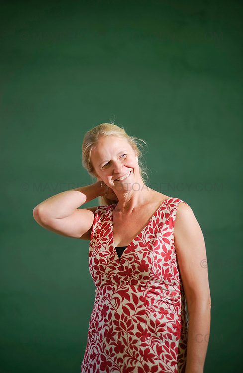 EDINBURGH, UK - 15th August 2010:  Portrait session with author Cornelia Funke at the Edinburgh International Book Festival.  (Photograph: Callum Bennetts/MAVERICK)