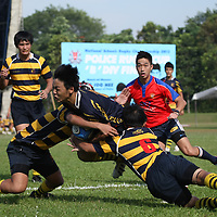 Home Team Academy, Thursday, April 19, 2013 &ndash; Anglo-Chinese School (Independent) came back from 14&ndash;17 down at half time to beat Anglo-Chinese School (Barker Rd) 19&ndash;17 in the final of the National B Division Rugby Championship.<br />