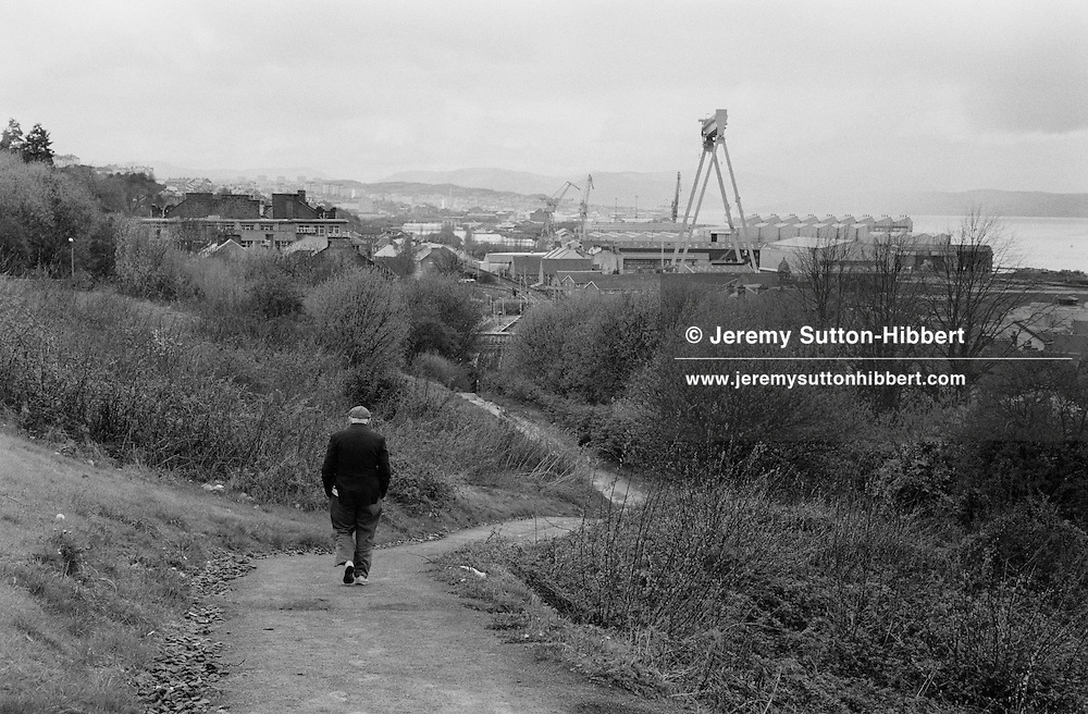 near Ferguson shipyard, Port Glasgow, Scotland, 1996