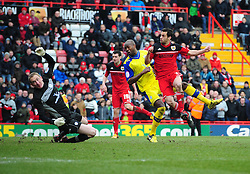 Bristol City's Sam Baldock scores a late equaliser for Bristol City - Photo mandatory by-line: Joe Meredith/JMP - Tel: Mobile: 07966 386802 01/04/2013 - SPORT - FOOTBALL - Ashton Gate - Bristol -  Bristol City V Sheffield Wednesday - Npower Championship